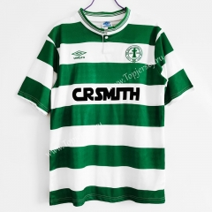 Retro Version 1987-1988 Celtic Home White&Green Thailand Soccer Jersey AAA-C1046
