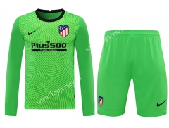 2020-2021 Atlético Madrid Goalkeeper Green LS Thailand Soccer Uniform-418