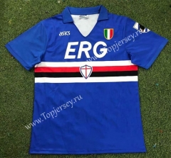 Retro Version 91-92 Sampdoria Home Blue Thailand Soccer Jersey AAA-503