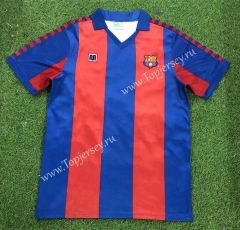 Retro Version 82-84 Barcelona Home Red&Blue Thailand Soccer Jersey AAA-503