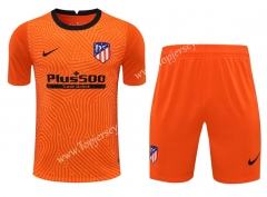 2020-2021 Atlético Madrid Goalkeeper Orange Thailand Soccer Uniform-418