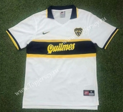 Retro Version 96-97 Boca Juniors Away White Thailand Soccer Jersey AAA-503
