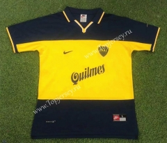Retro Version 98-99 Boca Juniors Home Yellow&Blue Thailand Soccer Jersey AAA-503