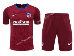 2020-2021 Atlético Madrid Goalkeeper Maroon Thailand Soccer Uniform-418