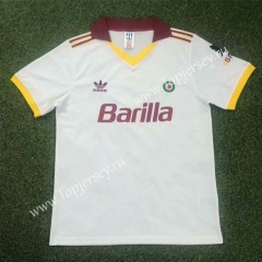 Retro Version 91-92 Roma Away White Thailand Soccer Jersey AAA-503