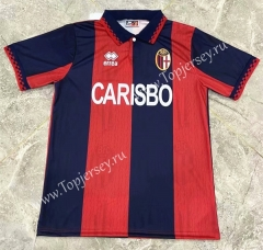 Retro Version 95 Bologna FC 1909 Red&Blue Thailand Soccer Jersey AAA-417