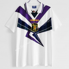 Retro Version 1994-1996 Scotland Away White Thailand Soccer Jersey AAA-C1046