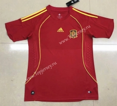 Retro Version 2008 European Cup Spain Home Red Thailand Soccer Jersey AAA-HR