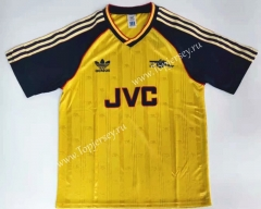 Retro Version 88-89 Arsenal Away Yellow Thailand Soccer Jersey AAA-912