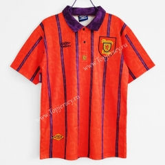 Retro Version 1994 Scotland Away Red Thailand Soccer Jersey AAA-C1046