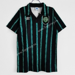 Retro Version 1992-1993 Celtic Away Black&Green Thailand Soccer Jersey AAA-C1046