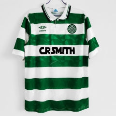 Retro Version 1989-1991 Celtic Home White&Green Thailand Soccer Jersey AAA-C1046