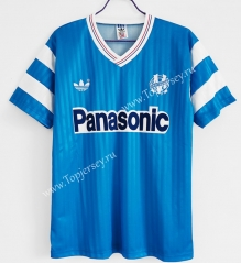 Retro Version 1990 Olympique de Marseille Away Blue Thailand Soccer Jersey AAA-C1046