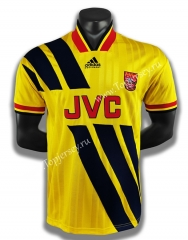 Retro Version 93-94 Arsenal Away Yellow Thailand Soccer Jersey AAA-C1046