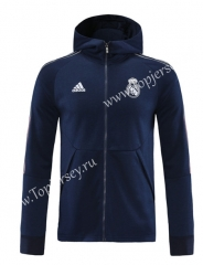 2020-2021 Real Madrid Royal Blue (Ribbon) Thailand Soccer Jacket With Hat-LH