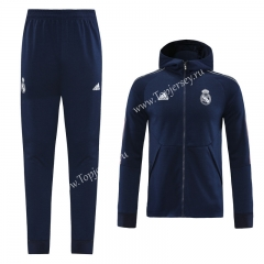 2020-2021 Real Madrid Royal Blue (Ribbon) Thailand Soccer Jacket Uniform With Hat-LH