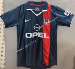 Retro Version 2001 Paris SG Home Blue Thailand Soccer Jersey AAA-811