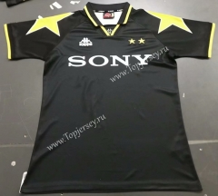 Retro Version 95-97 Juventus Black Thailand Soccer Jersey AAA-7T