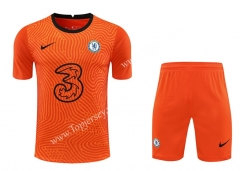 2020-2021 Chelsea Goalkeeper Orange Thailand Soccer Uniform-418