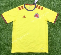 2021-2022 Colombia Home Yellow Thailand Soccer Jersey AAA-407