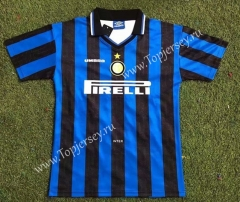 Retro Version 97-98 Inter Milan Home Blue&Black Thailand Soccer Jersey AAA-503