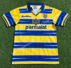 Retro Edition 98-99 Parma Calcio Away Yellow&Blue Thailand Soccer Jersey AAA-503