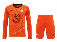 2020-2021 Chelsea Goalkeeper Orange LS Thailand Soccer Uniform-418