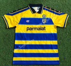 Retro Edition 99-00 Parma Calcio Home Yellow&Blue Thailand Soccer Jersey AAA-503