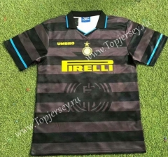 Retro Version 97-98 Inter Milan Away Black&Gray Thailand Soccer Jersey AAA-503