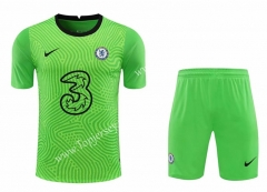 2020-2021 Chelsea Goalkeeper Green Thailand Soccer Uniform-418