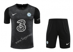 2020-2021 Chelsea Goalkeeper Black Thailand Soccer Uniform-418