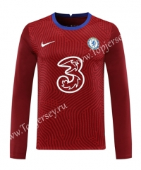 2020-2021 Chelsea Goalkeeper Maroon LS Thailand Soccer Jersey-418