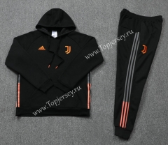 2020-2021 Juventus Black (Ribbon) Thailand Soccer Tracksuit With Hat-LH