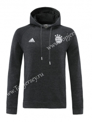2020-2021 Bayern München Black ( Ribbion ) Thailand Soccer Tracksuit Top With Hat-LH