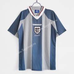 Retro Version 96 England Away Blue&Gray Thailand Soccer Jersey AAA-C1046