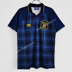 Retro Version 1994-1996 Scotland Home Blue Thailand Soccer Jersey AAA-C1046