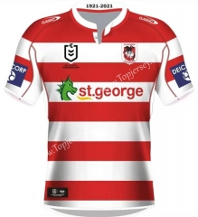 Retro Version St George Red&White Thailand Rugby Shirt