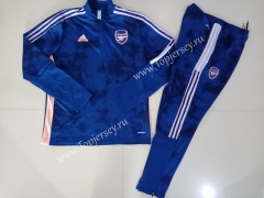 2020-2021 Arsenal Dark Blue(Pad printing)Thailand Soccer Tracksuit-GDP