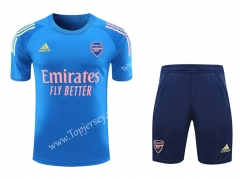 2020-2021 Arsenal Blue Short-Sleeve Thailand Soccer Tracksuit-418