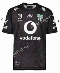 2021 New Zealand Warriors Black Thailand Rugby Jersey