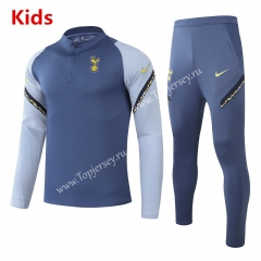 2020-2021 Tottenham Hotspur Blue&Gray Kids/Youth Tracksuit-GDP