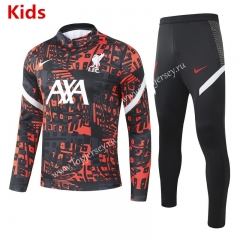 2020-2021 Liverpool Red&Black Kids/Youth Soccer Tracksuit -GDP