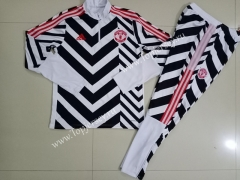 2020-2021 Manchester United Black&White(Pad printing ) Thailand Soccer Tracksuit-GDP