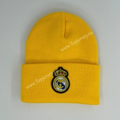 Real Madrid Yellow Knitted Hat