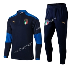 2020-2021 Italy Royal Blue Thailand Soccer Tracksuit-411
