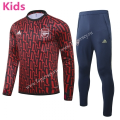 2020-2021 Arsenal Red (pad printing) Kids/Youth Soccer Tracksuit-GDP