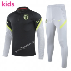 UEFA Champions League Version 2020-2021 Atletico Madrid Black Kids/Youth Soccer Tracksuit -GDP