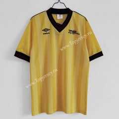 Retro Version 1983-1986 Arsenal Away Yellow Thailand Soccer Jersey AAA-C1046