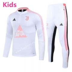 Joint Version 2020-2021 Juventus White Kids/Youth Soccer Tracksuit-GDP