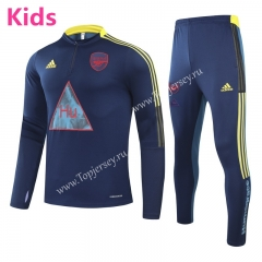 Joint Version 2020-2021 Arsenal Royal Blue Kids/Youth Soccer Tracksuit-GDP